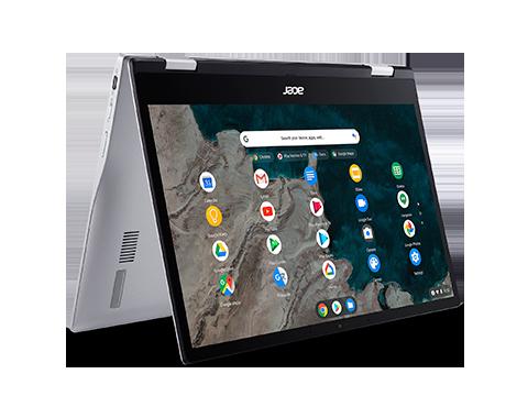 Acer Chromebook Spin 513 convertible | CP513-1H | Plata Chrome OS, Procesador Qualcomm® Snapdragon™ 7c Octa-core (8 núcleos) 2,10 GHz, 33,8 cm (13,3