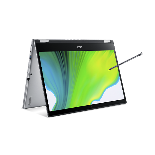 Acer Spin 3 Pro Portátil convertible   SP314-54N   Plata Windows 10 Pro 64-bit, Procesador Intel® Core™ i7-1065G7 Quad-core (4 núcleos) 1,30 GHz, 35,6 cm (14