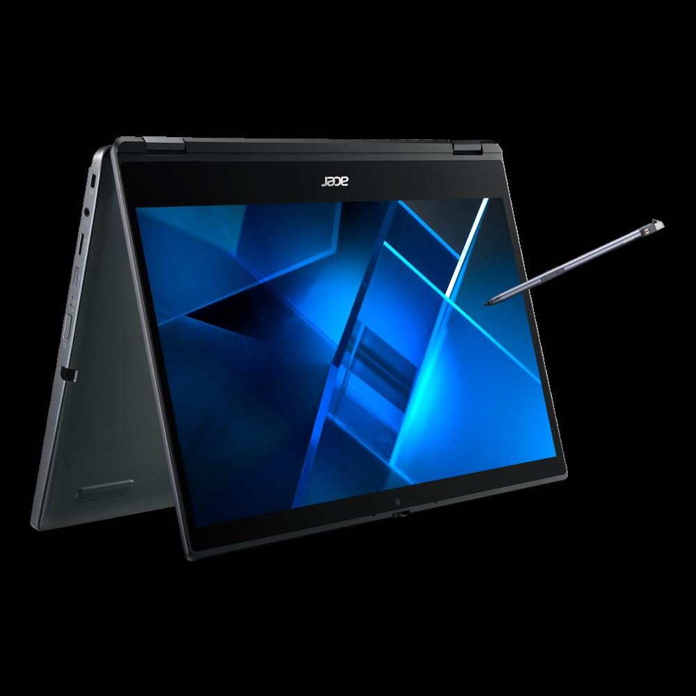 Acer TravelMate Spin P4 Portátil convertible  –  4G/LTE | TMP414RN-51 | Azul Windows 10 Pro 64-bit, Procesador Intel® Core™ i5-1135G7 Quad-core (4 núcleos) 2,40 GHz, 35,6 cm (14