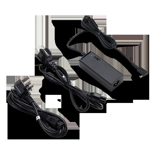 Adaptador de CA 45W-19V para portátiles - Cable de alimentación de la UE / Reino Unido