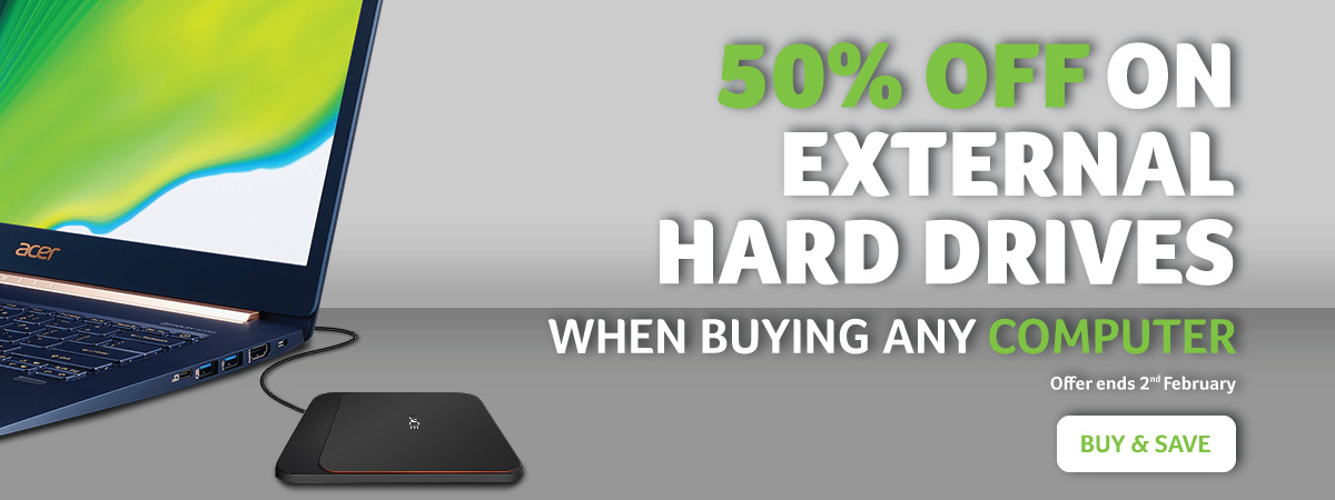 50% OFF on HDD